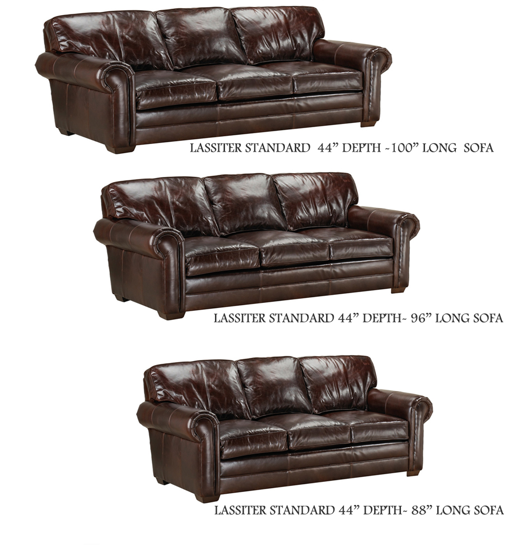 Couch Depth lassiter sofa extra deep and std depthamerican heritage leather