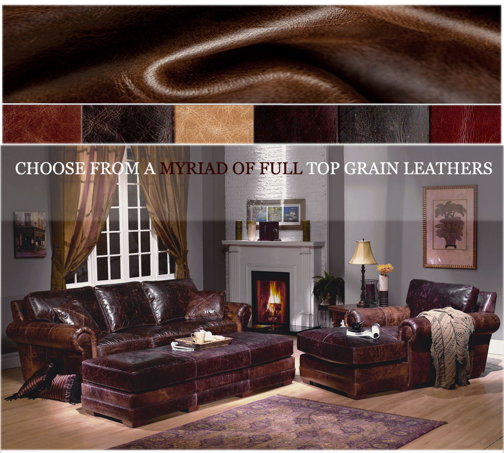 American Heritage Leather Furniture-Made in USA-LeatherShoppes.com
