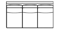 armless sofa line drawing