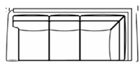 laf corner sofa  line drawing