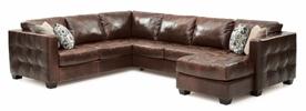 Palliser Barrett sectional Sofa with pillows
