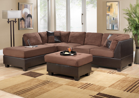 Brown Sectional creating a room
