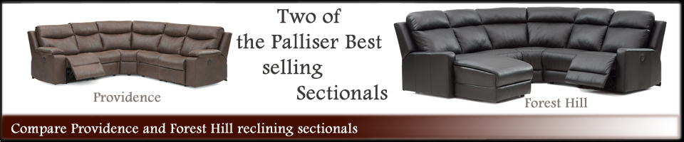 Compare Palliser Leather Forest hill and Providence Sectionals